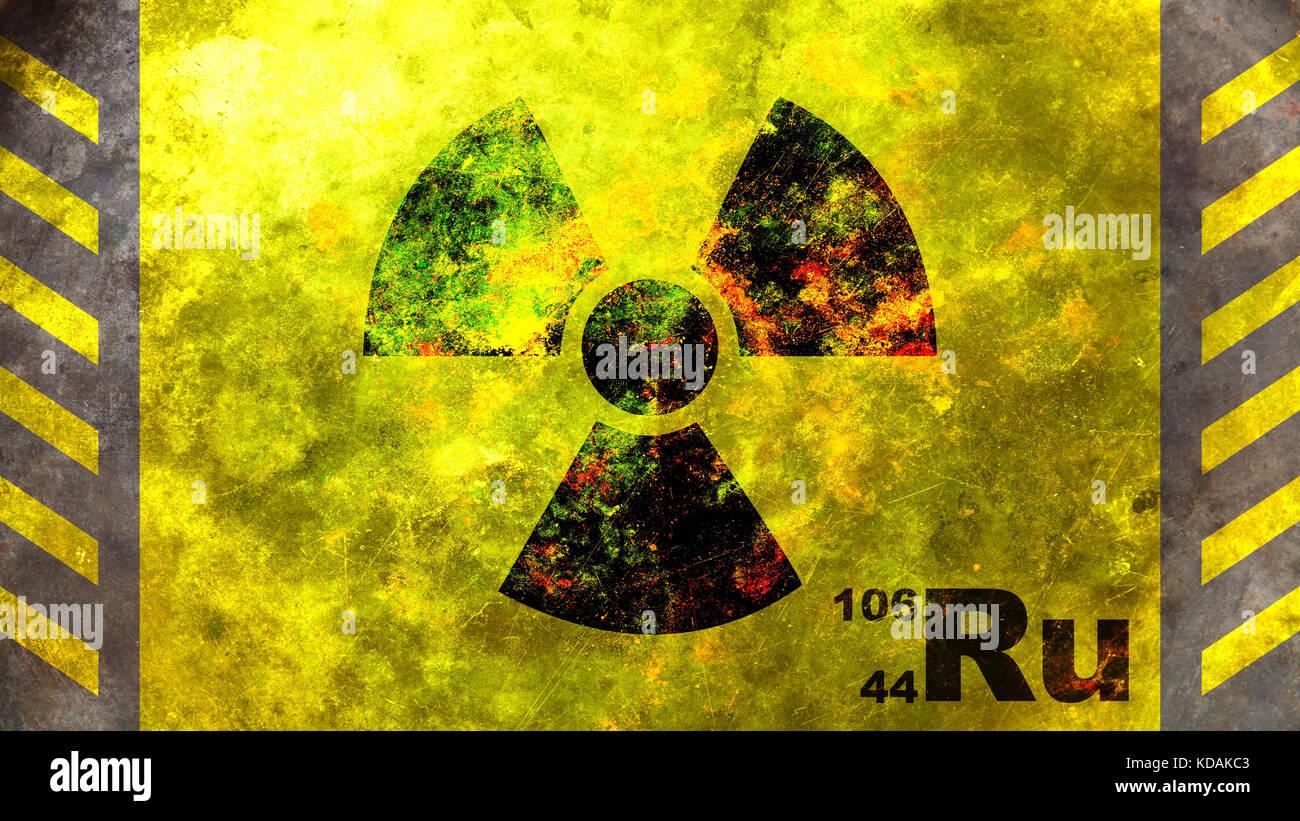 Ruthenium 106 radioactive symbol on yellow background 3d stock ruthenium 106 radioactive symbol on yellow background 3d illustration buycottarizona
