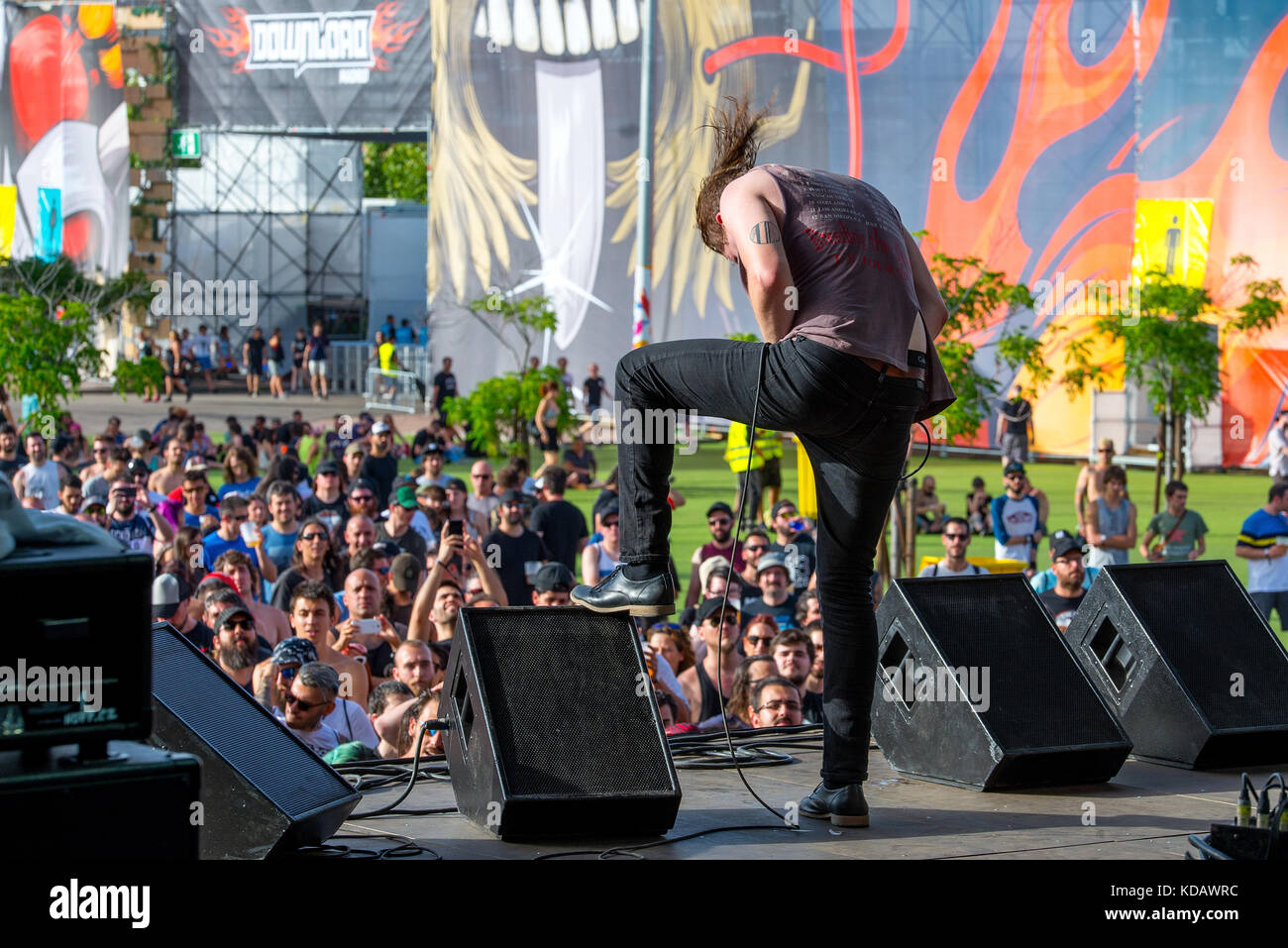 Madrid Jun 24 Deafheaven Metal Music Band Perform In Concert At
