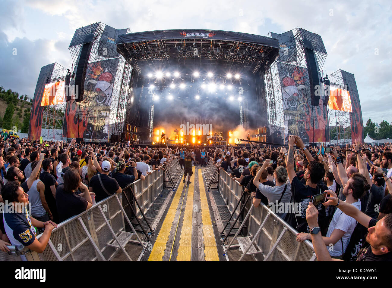 Madrid Jun 24 The Crowd In A Concert At Download Heavy Metal