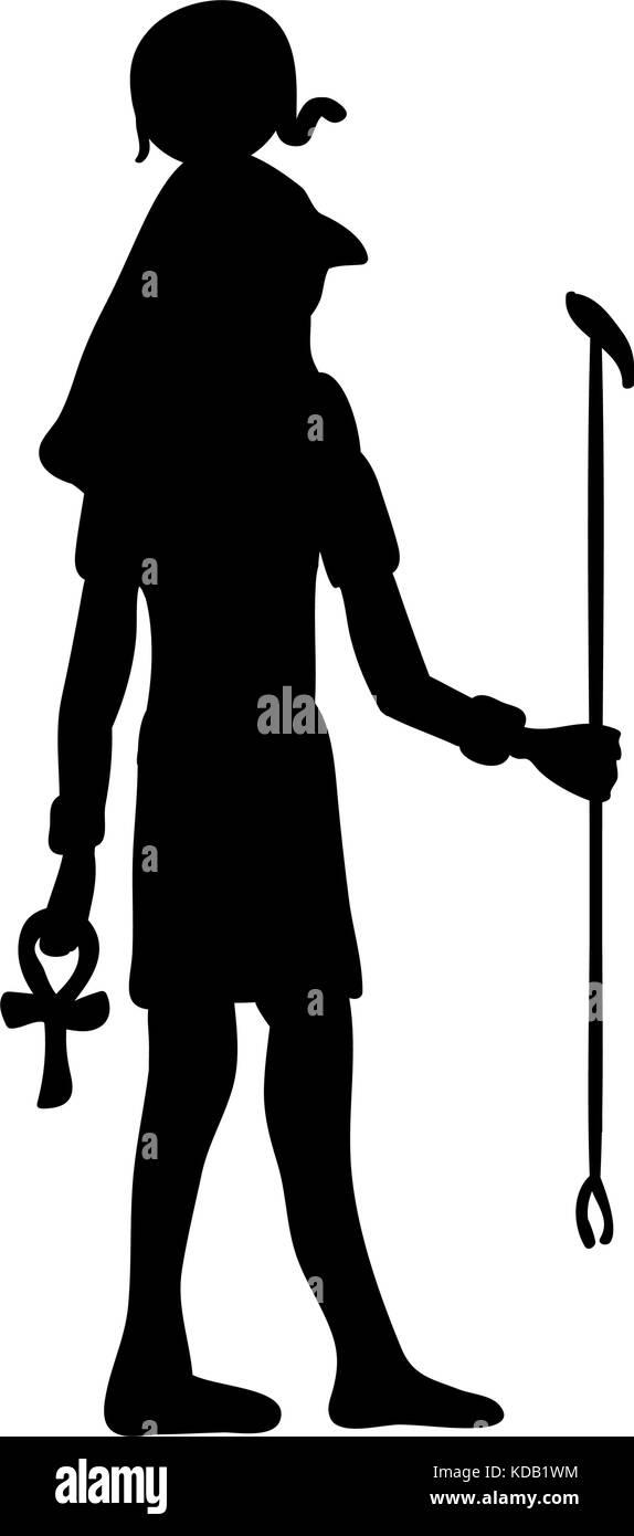 God ra horus egypt egyptian silhouette ancient egypt vector stock god ra horus egypt egyptian silhouette ancient egypt vector illustration buycottarizona