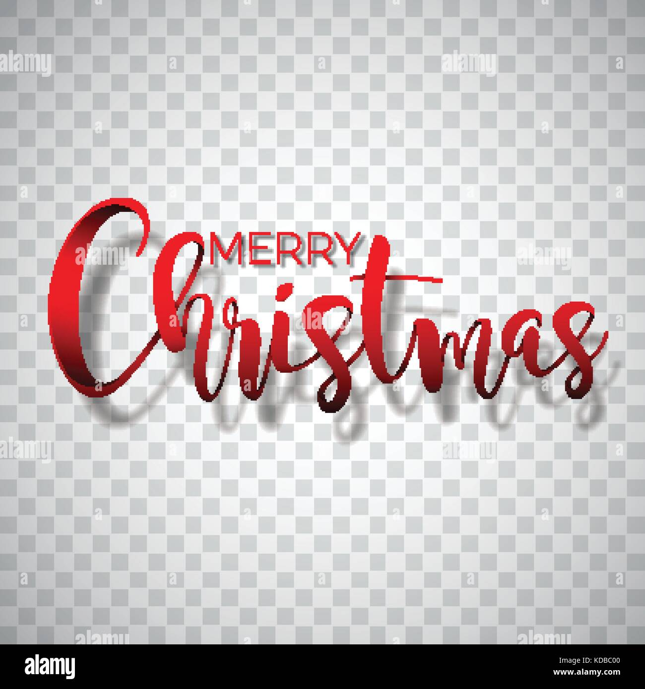 Merry Christmas Typography Illustration On A Transparent Background