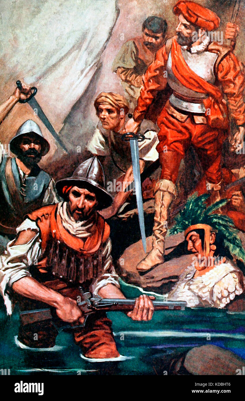 the spanish conquest The spanish conquest francisco pizarro , along with two dozen soldiers, stumbled upon and named the pacific ocean in 1513 while on an exploratory expedition in panama.