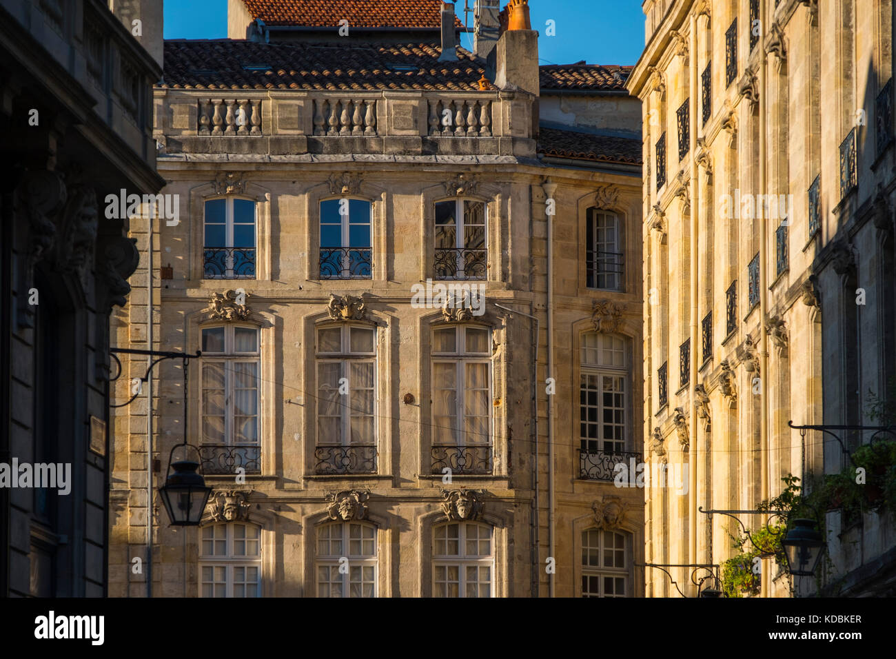 neoclassical architecture building at historic center bordeaux