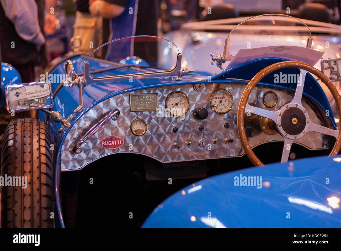 Bugatti Dash Interior Classic Car Stock Photo 163158961 Alamy