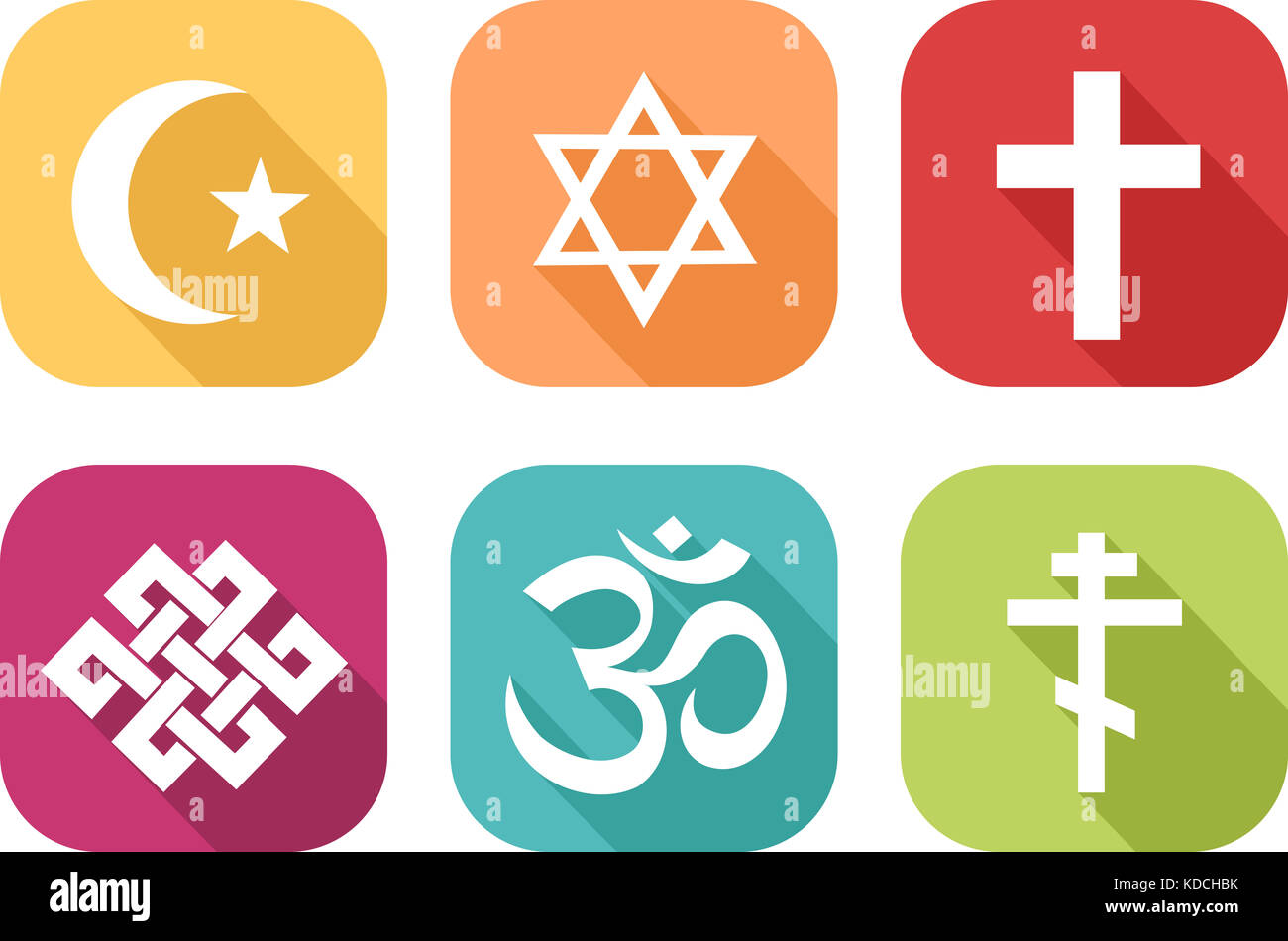 Different religion symbols stock photos different religion colorful icon of symbols of different religions stock image buycottarizona