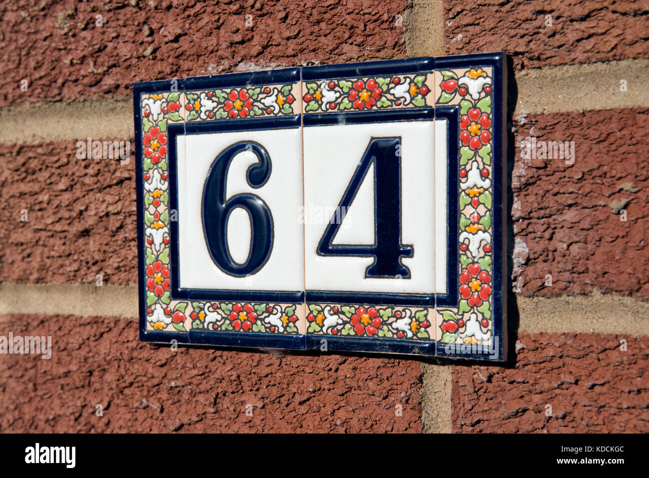 Ceramic address tiles gallery tile flooring design ideas ceramic tile house number stock photos ceramic tile house number the number sixty four constructed from dailygadgetfo Choice Image