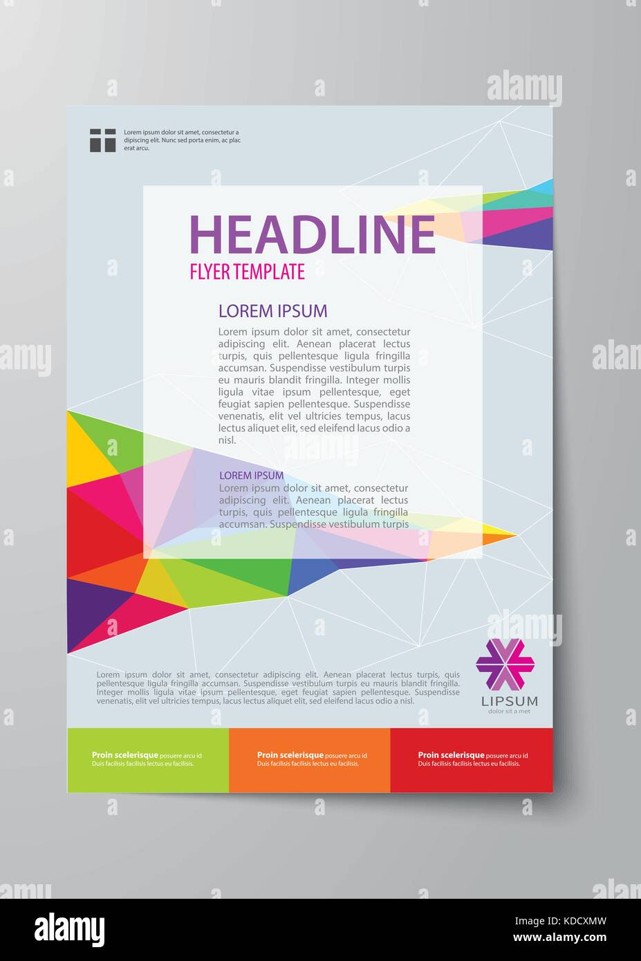 set of business magazine cover flyer brochure flat design stock