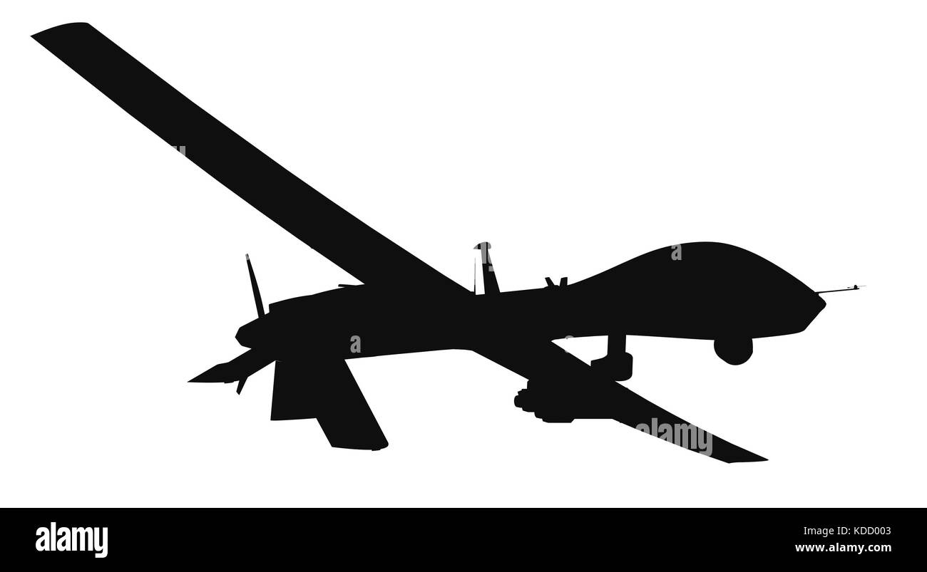 MQ 1C Gray Eagle Military Drone 3d Render Isolated Background