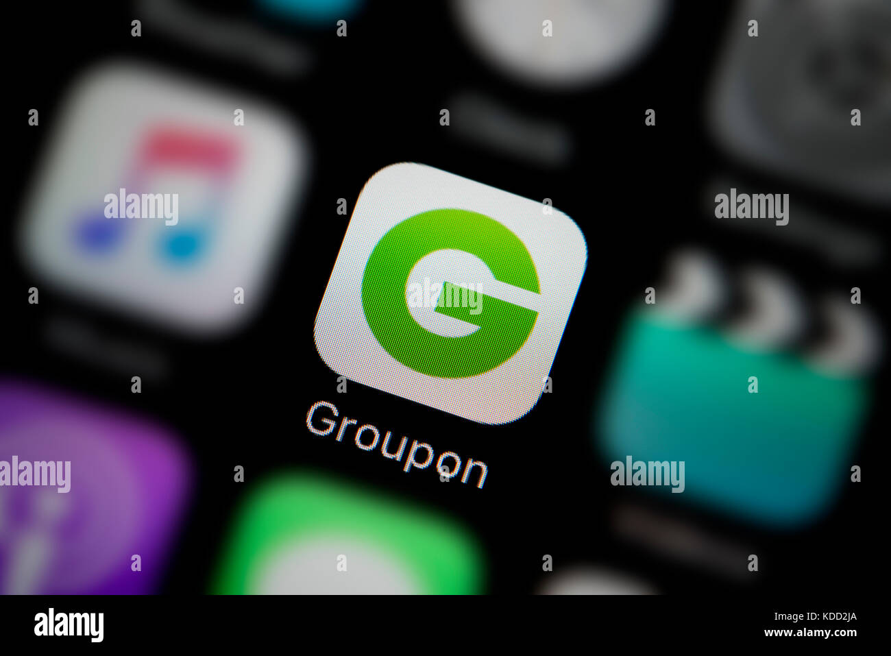 Groupon logo stock photos groupon logo stock images alamy a close up shot of the logo representing groupon app icon as seen on buycottarizona Image collections
