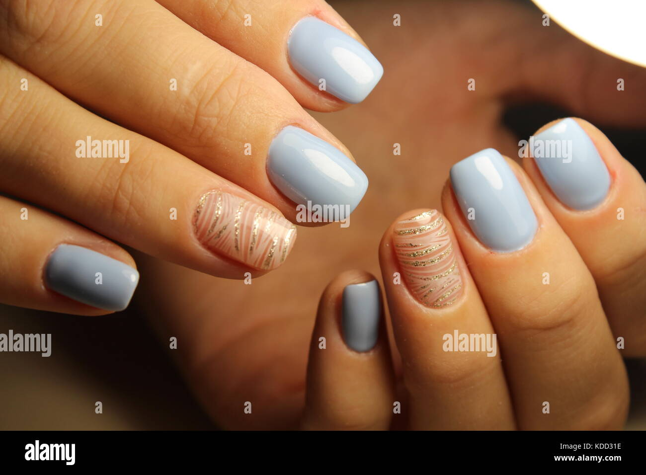 Fashion nails design manicure, best of 2017 Stock Photo, Royalty ...