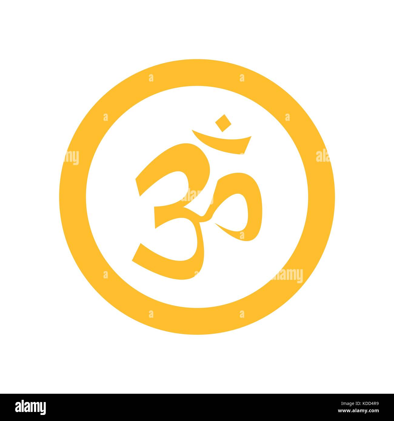Om symbol cut out stock images pictures alamy simple circular yellow om symbol stock image biocorpaavc