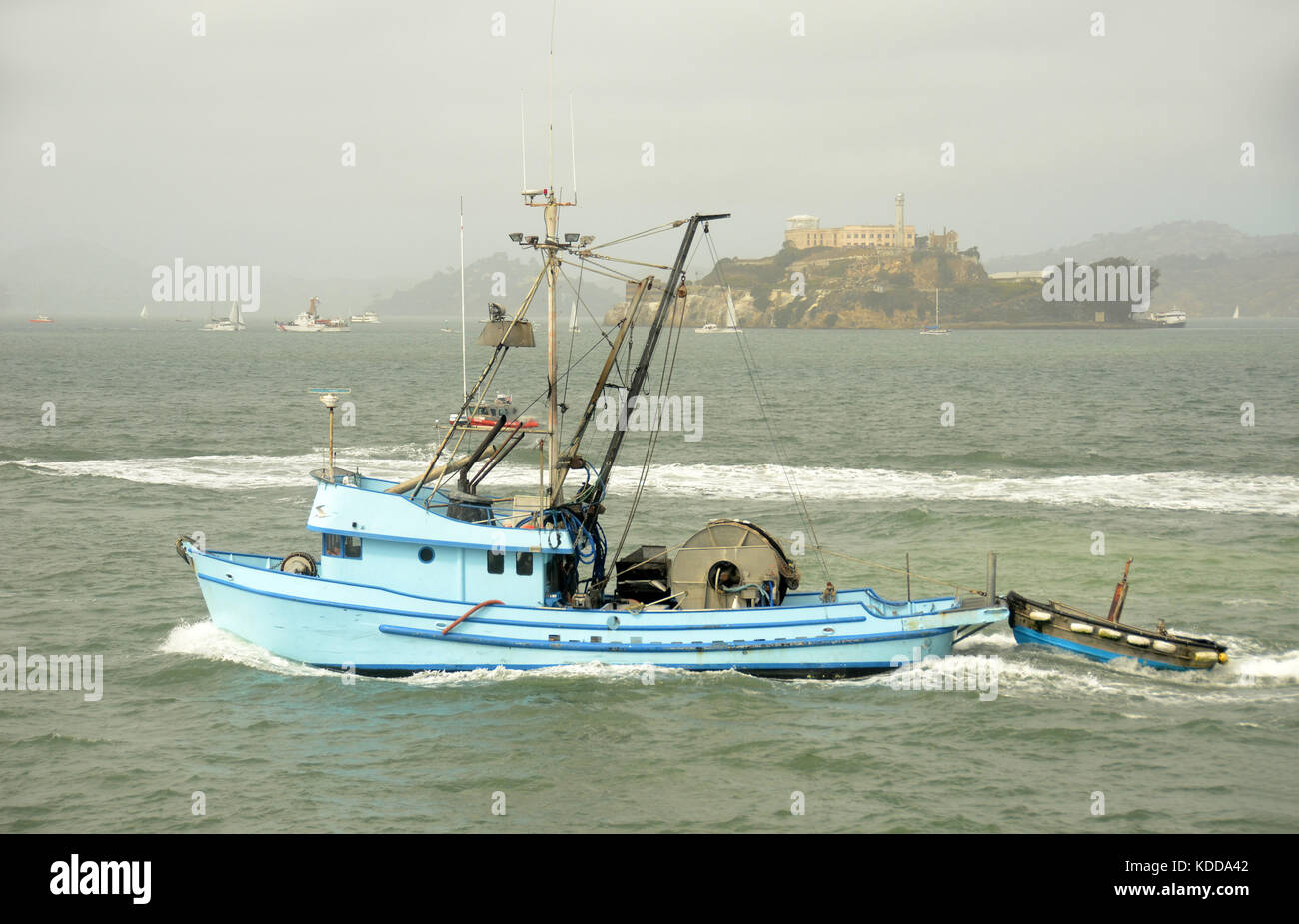 Side view of fishing trawler stock photos side view of for San francisco bay fishing