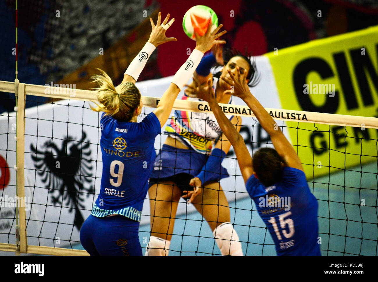 Osasco Brazil. 13th Oct 2017. On Friday (13) the match that will Stock Photo Royalty Free