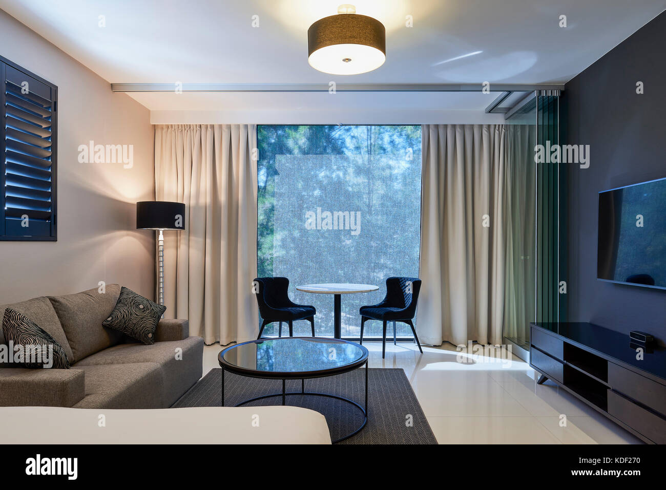 Stock Photo - Typical suite with internal terrace doors open. Good Life Suites Crows Nest Australia. Architect: Nettleton Tribe 2017 & Typical suite with internal terrace doors open. Good Life Suites ... Pezcame.Com