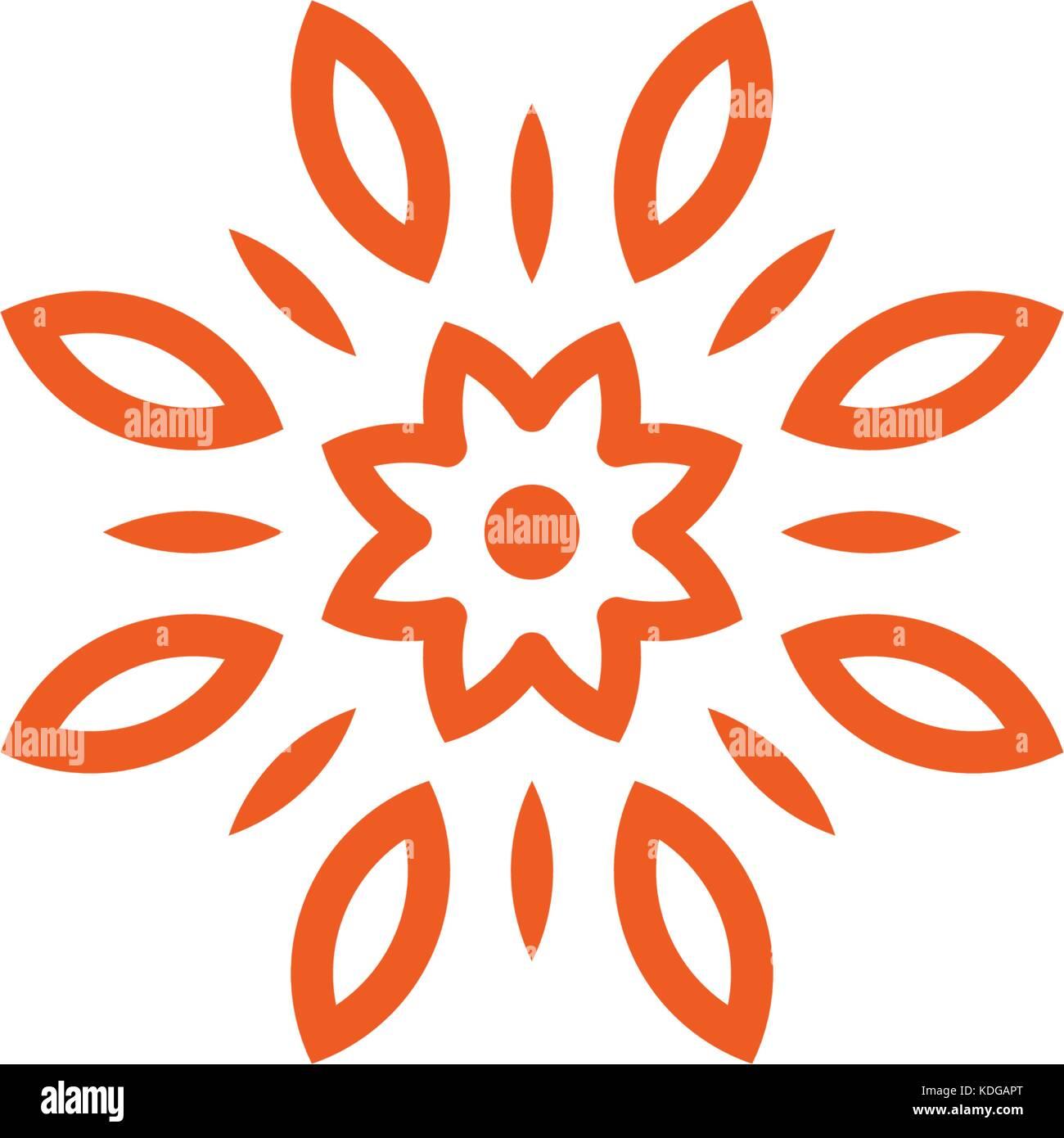 Flower vector linear logo orange line art sun icon outline flower vector linear logo orange line art sun icon outline garden abstract symbol biocorpaavc Choice Image