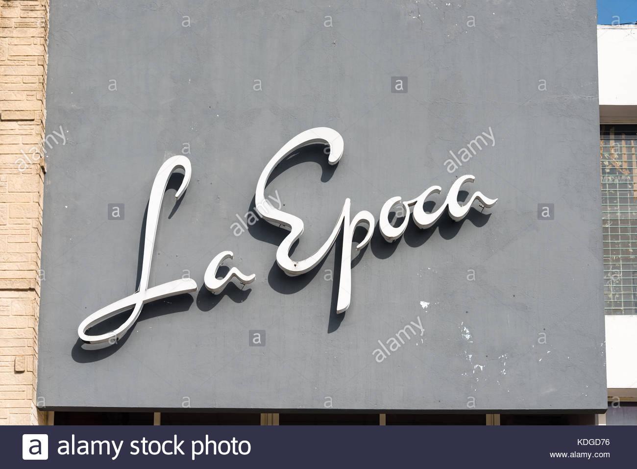 Lettering On Metal La Epoca Signboard Stylised White Metal Lettering On Dark Grey