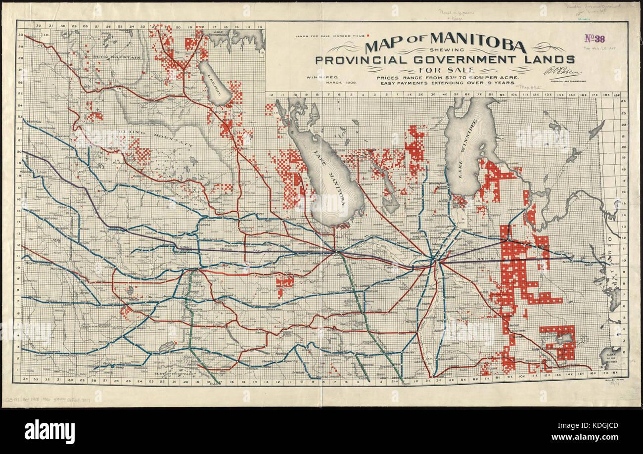 Map Of Manitoba Stock Photos Map Of Manitoba Stock Images Alamy - Map of manitoba