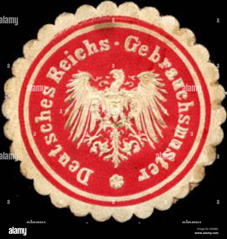 Siegelmarke Deutsches Reichs Gebrauchsmuster W0211399 Stock Photo ...