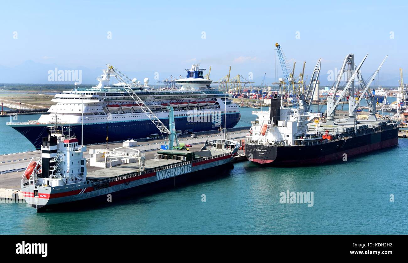 The Cruise Ship MS Sovereign At The Port Of Livorno Italy - Ms sovereign cruise ship
