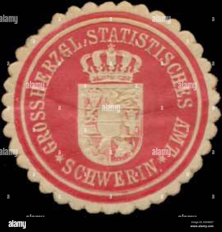 Siegelmarke Grossherzgl. Statistisches Amt Schwerin W0345293 Stock ...