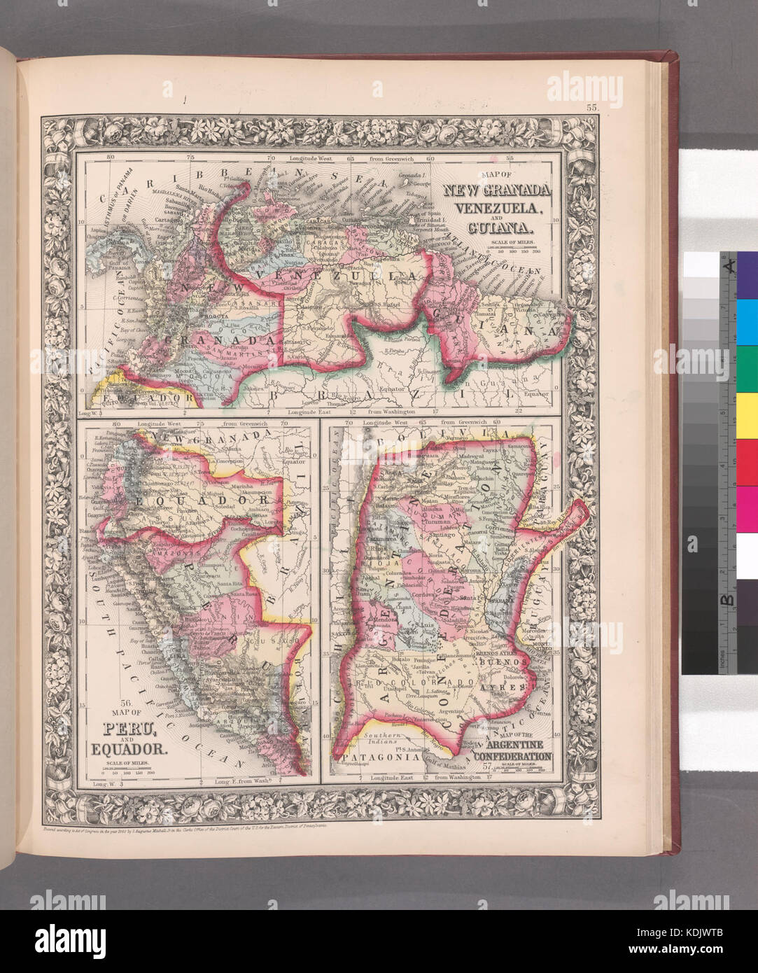 Old Map Of Grenada Stock Photos Old Map Of Grenada Stock Images - Grenada atlas map