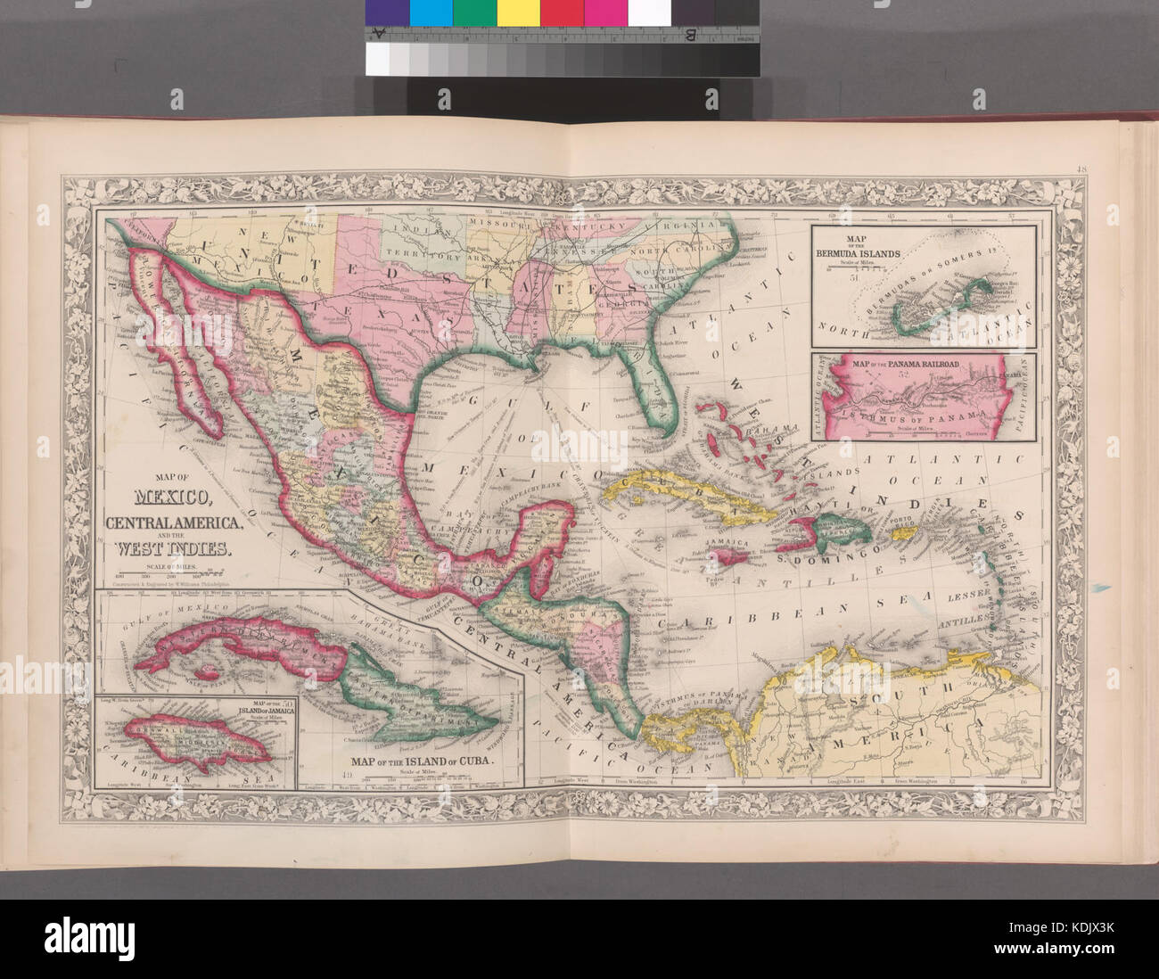 Old Map Of Jamaica Stock Photos Old Map Of Jamaica Stock Images - West indies central america 1763