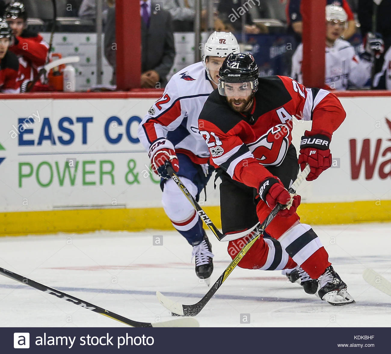 16e9d905848 ... Kyle Palmieri Newark, NJ, USA. 13th Oct, 2017. New Jersey Devils right  wing ...