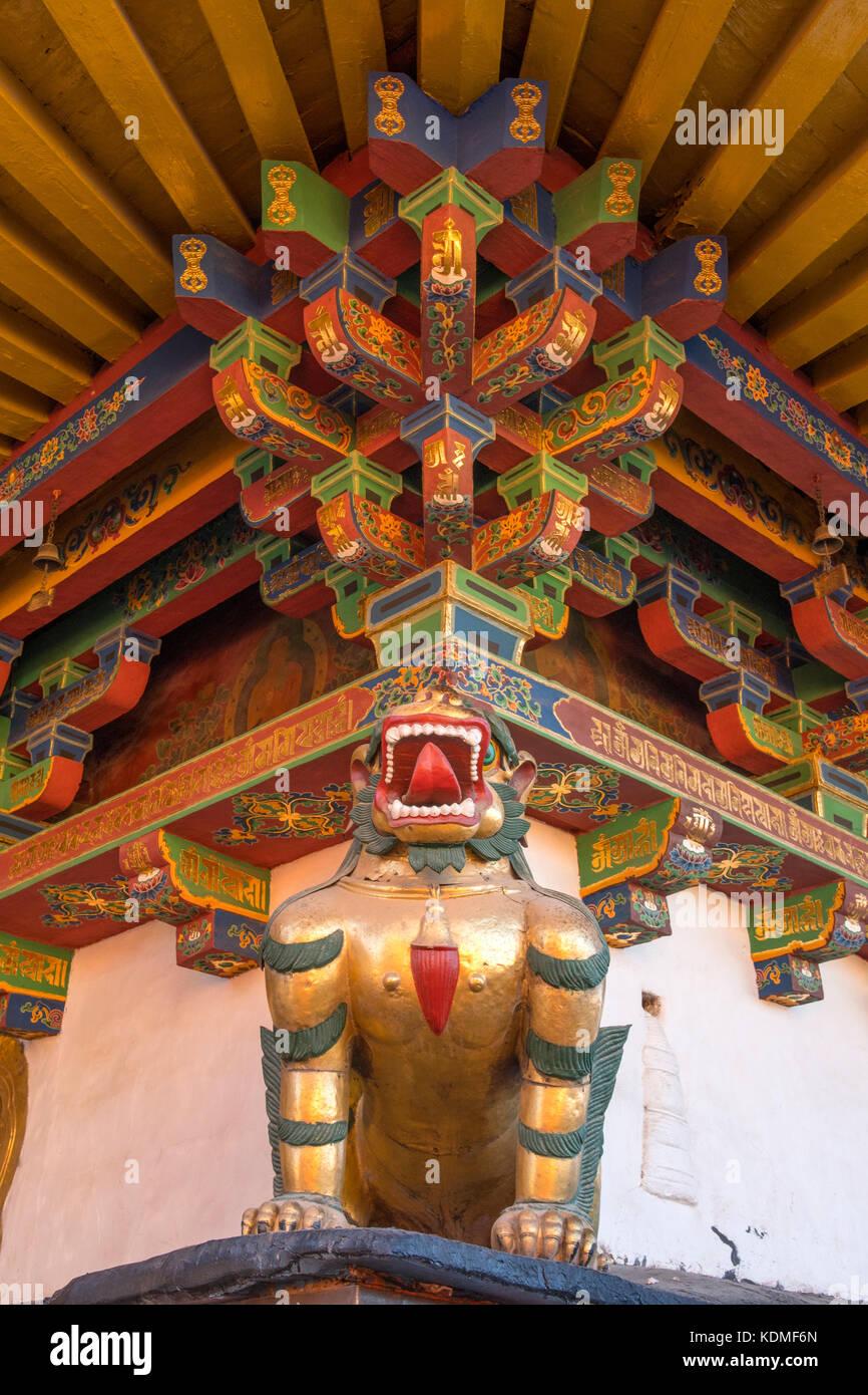 Dragon Timber Frame for Roof of Jokhang Temple, Lhasa, Tibet, China ...