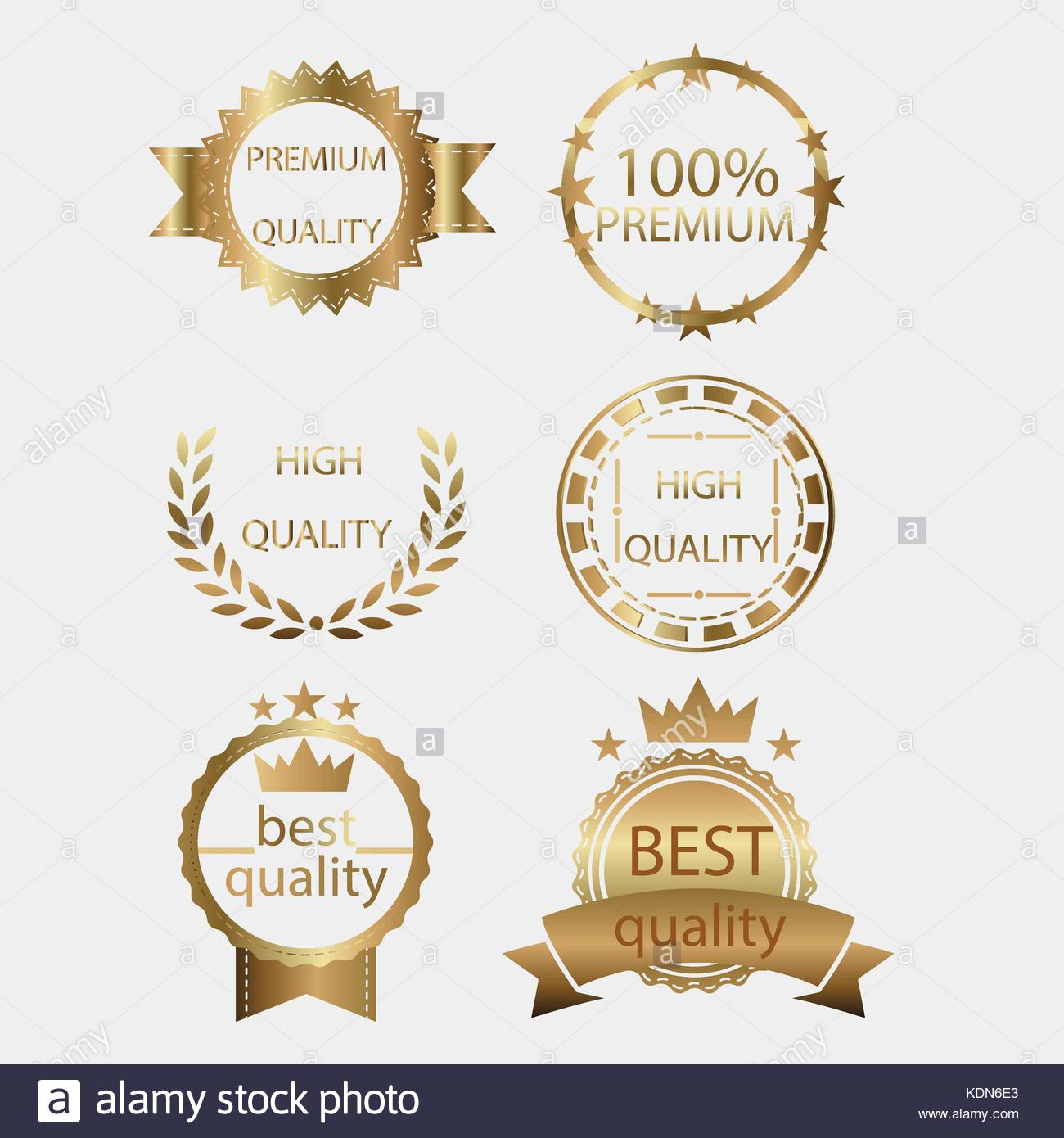 Badge golden gold medal seal vector quality label certificate badge golden gold medal seal vector quality label certificate design metal set collection yadclub Images