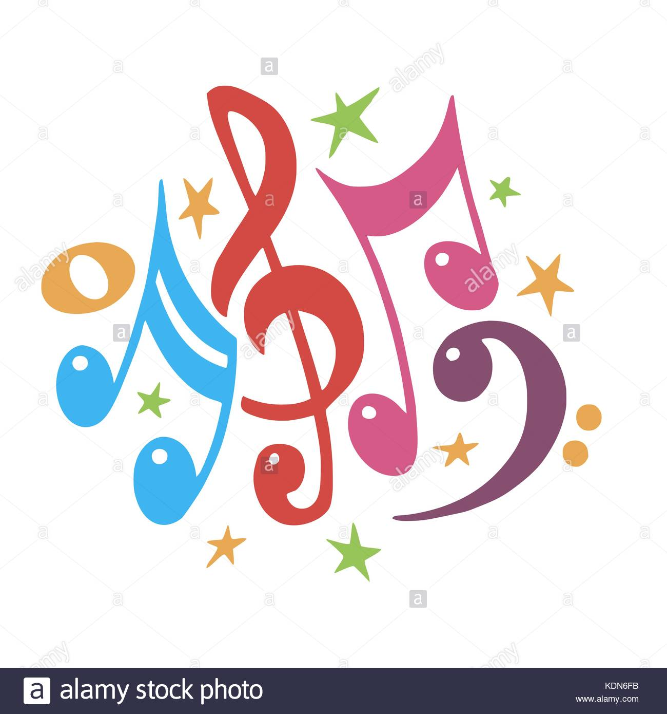 Music notes color abstract musical background vector stock music notes color abstract musical background vector illustrationnsural notation musicallorful notes symbolste value music staff buycottarizona Choice Image