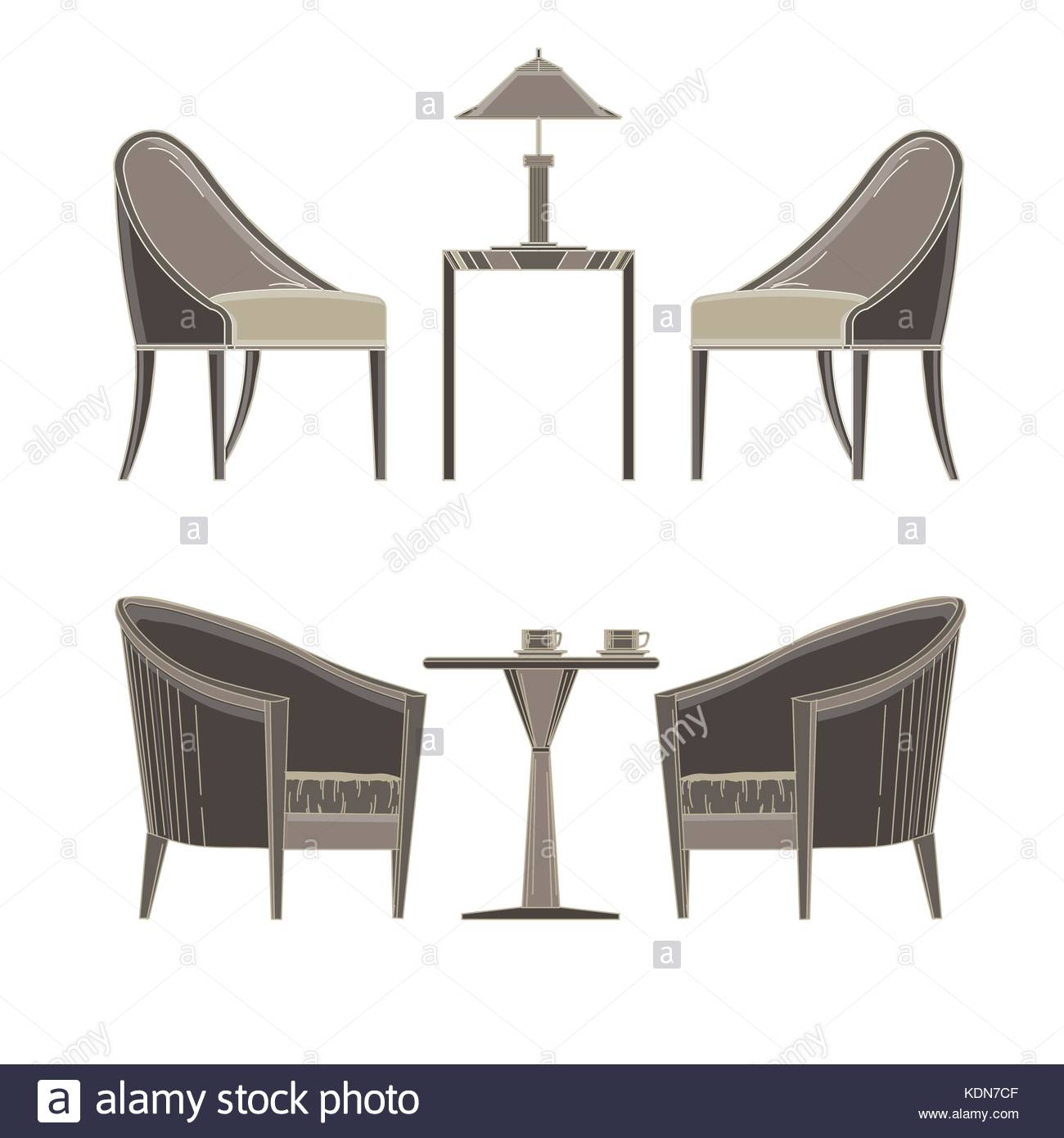 Side table stock vector images alamy