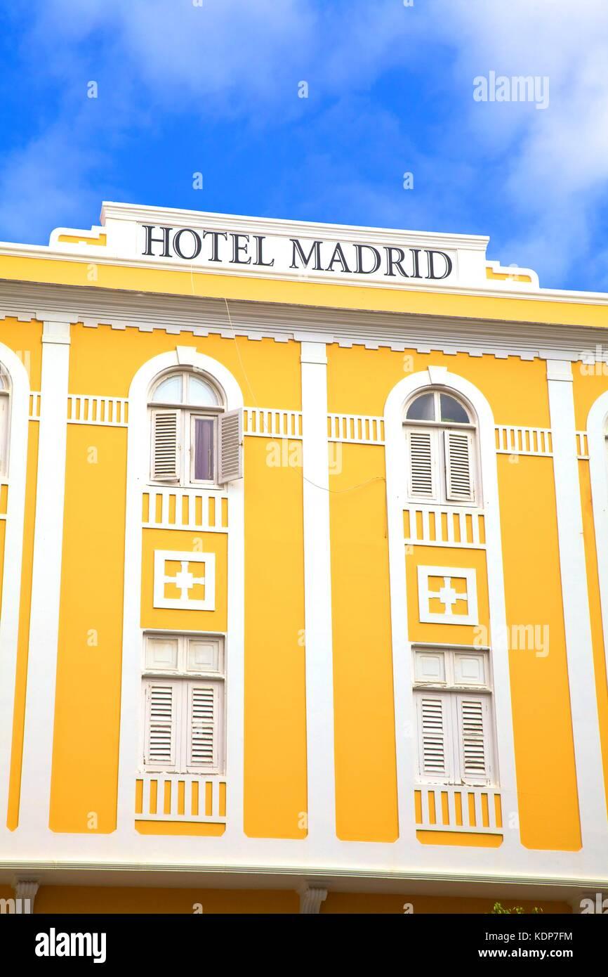 Hotel Madrid In Plaza De Cairasco Triana Las Palmas De Gran Stock