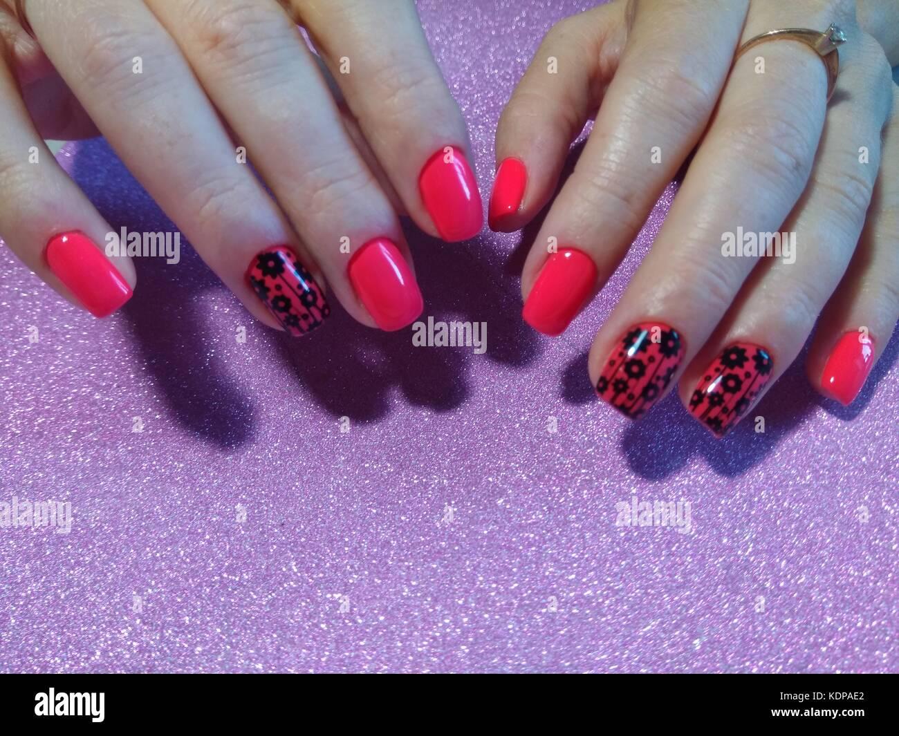 Nail art design. Nail Polish. Beauty hands. Trendy Stylish Colorful ...