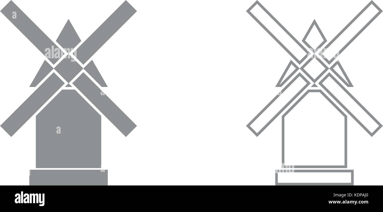 Windmill vectors stock photos windmill vectors stock images alamy windmill it is grey set icon stock image pooptronica Gallery