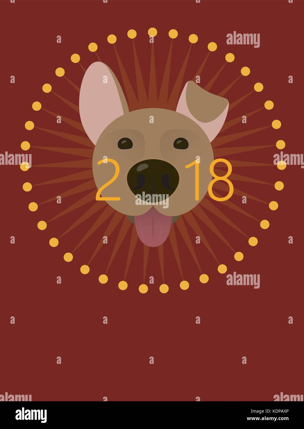 2018 Happy New Year Greeting Card Poster Celebration Background