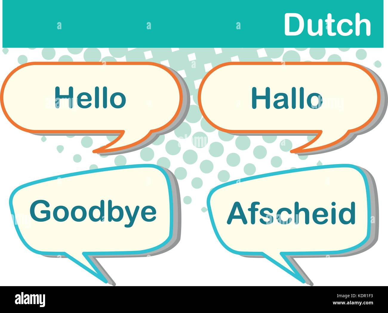 Dutch language stock vector images alamy greeting words in dutch language illustration stock vector kristyandbryce Gallery