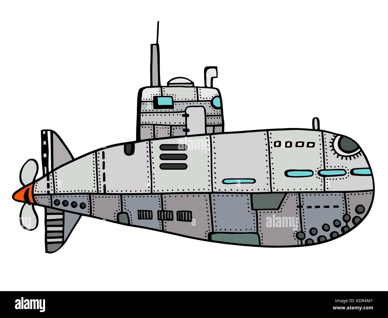 Submarine pen stock photos submarine pen stock images alamy colored doodle sketch of old submarine vector illustration art stock image pooptronica