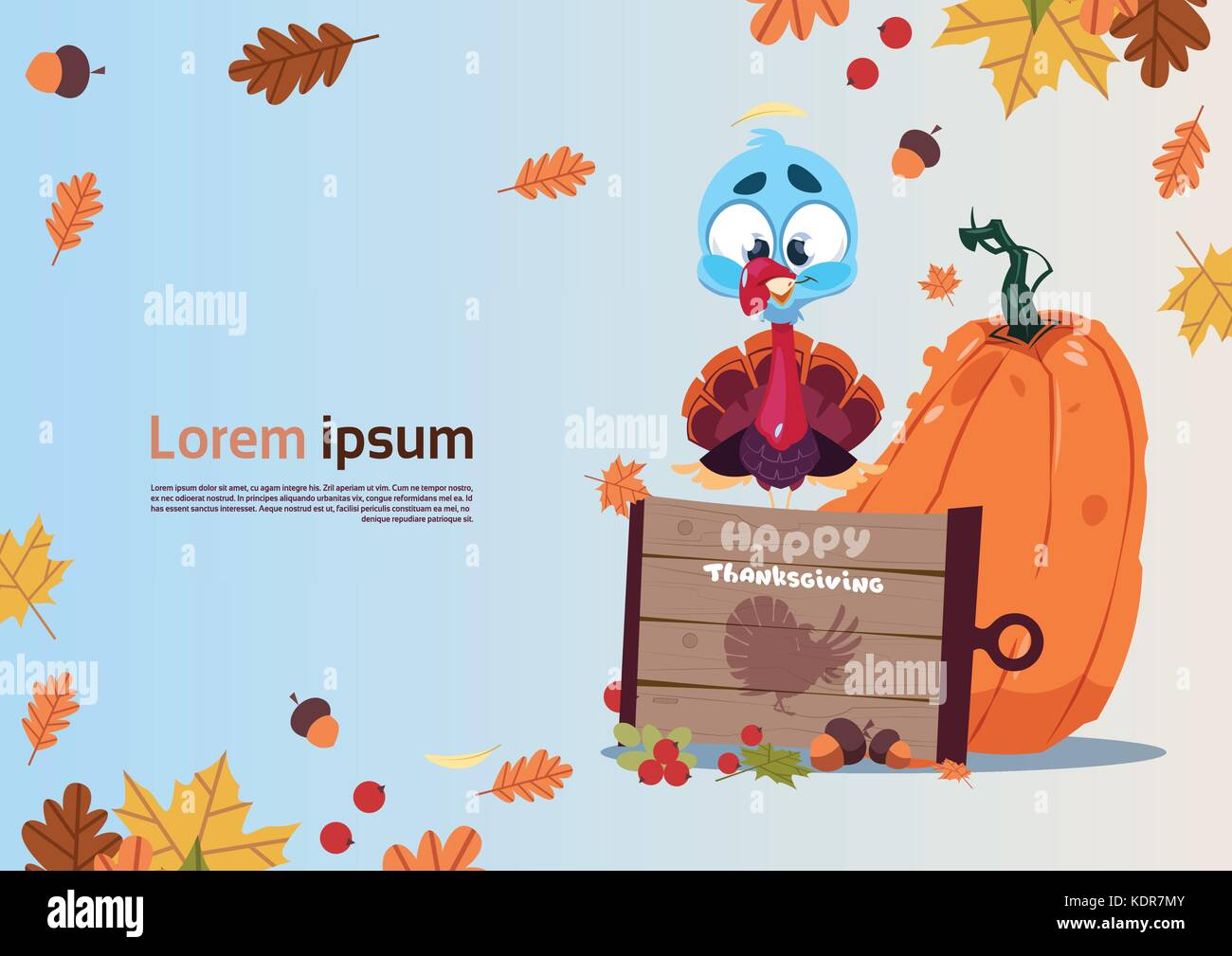 Happy Thanksgiving Day Autumn Traditional Harvest Holiday Greeting