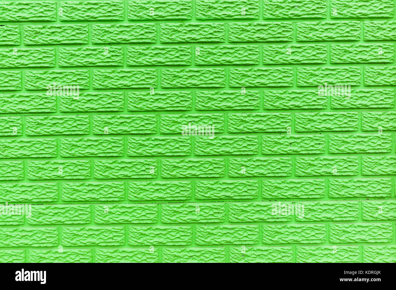 wall brick mold slats closeup pastel color lime green paint detail
