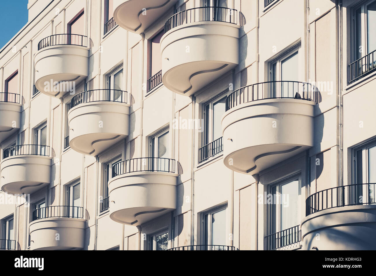 Delightful Round Balcony On Modern Apartment Building Facade   Residential Building  Exterior In Berlin