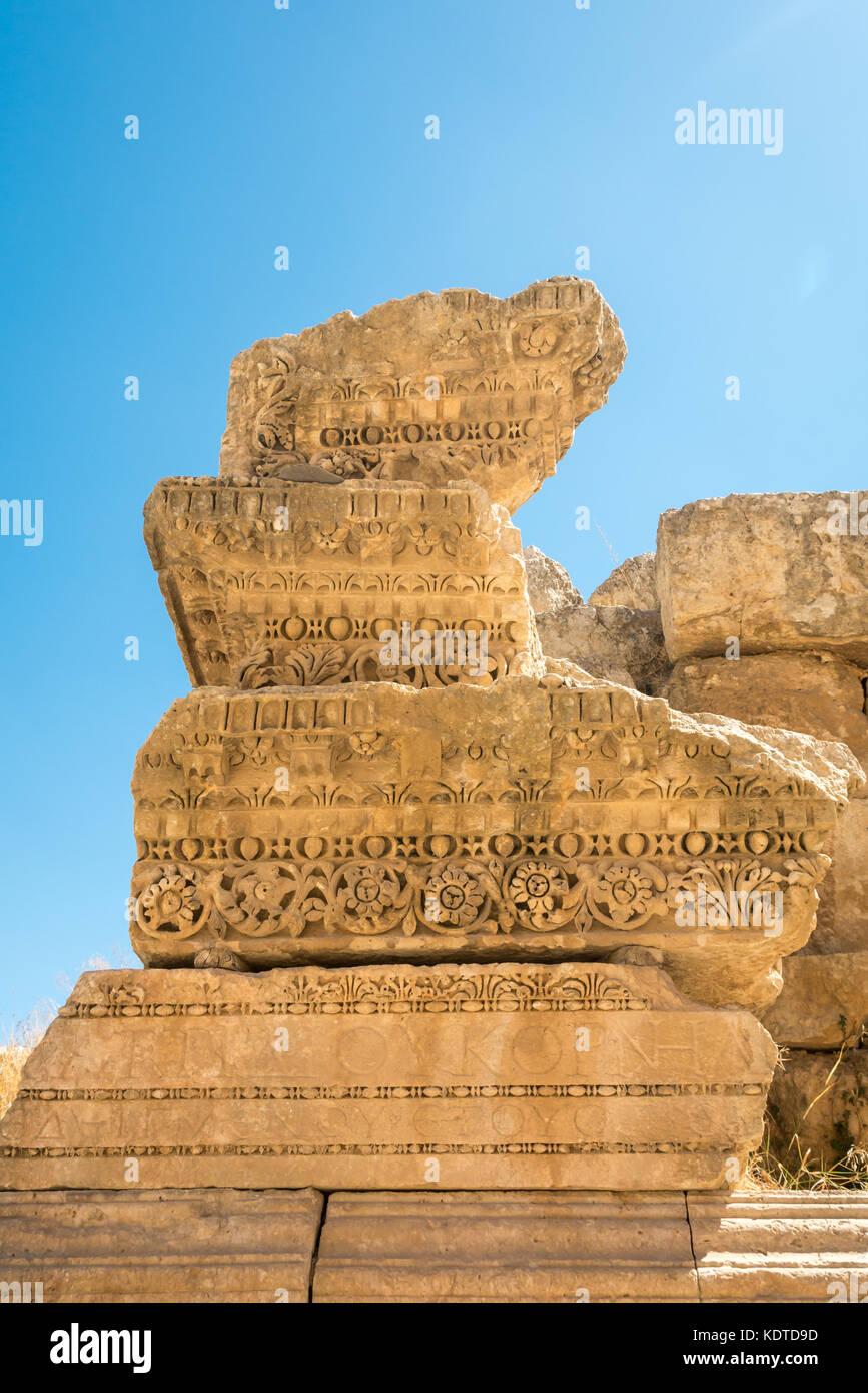 Roman carving stone stock photos