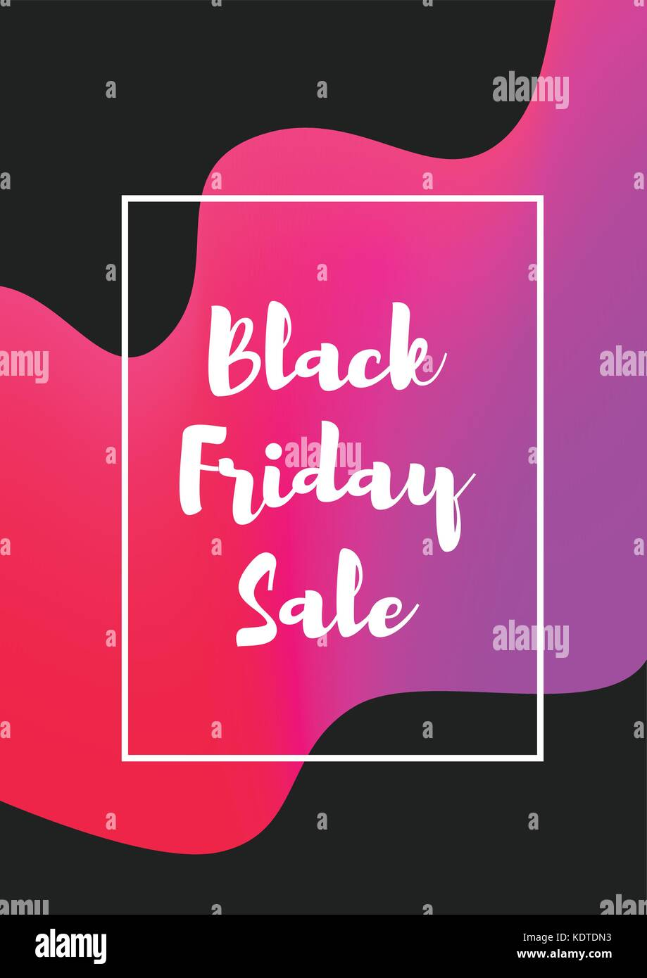 vector abstract style web black friday vertical banner template