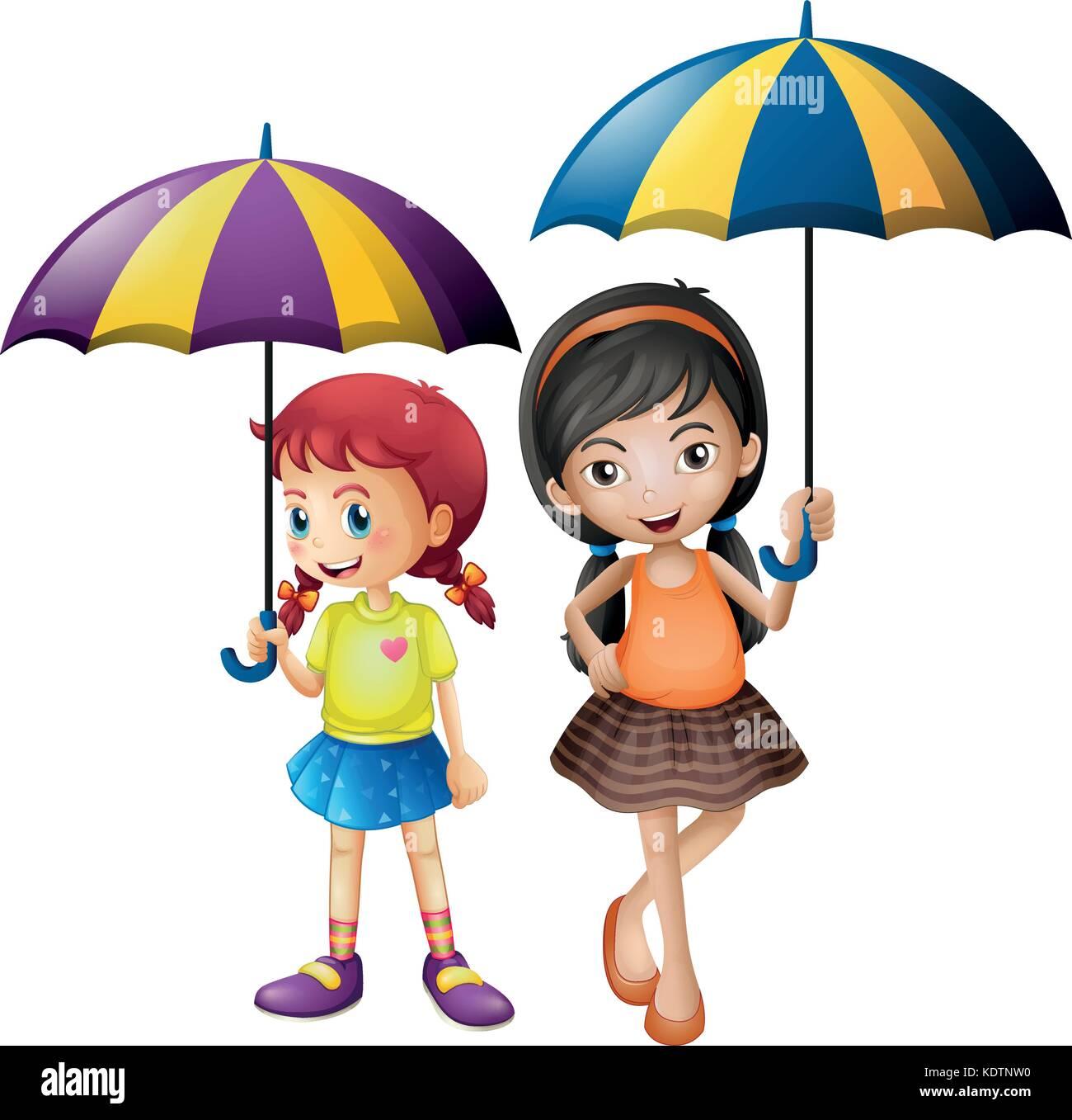 Girl Holding An Umbrella