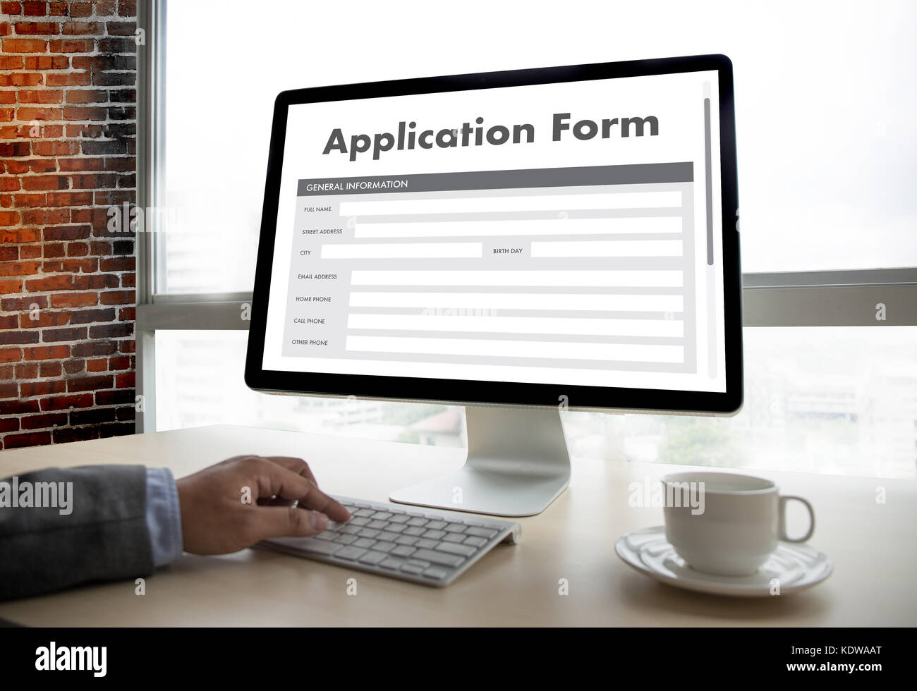 business man working on laptop computer use Online Web Job Stock ...