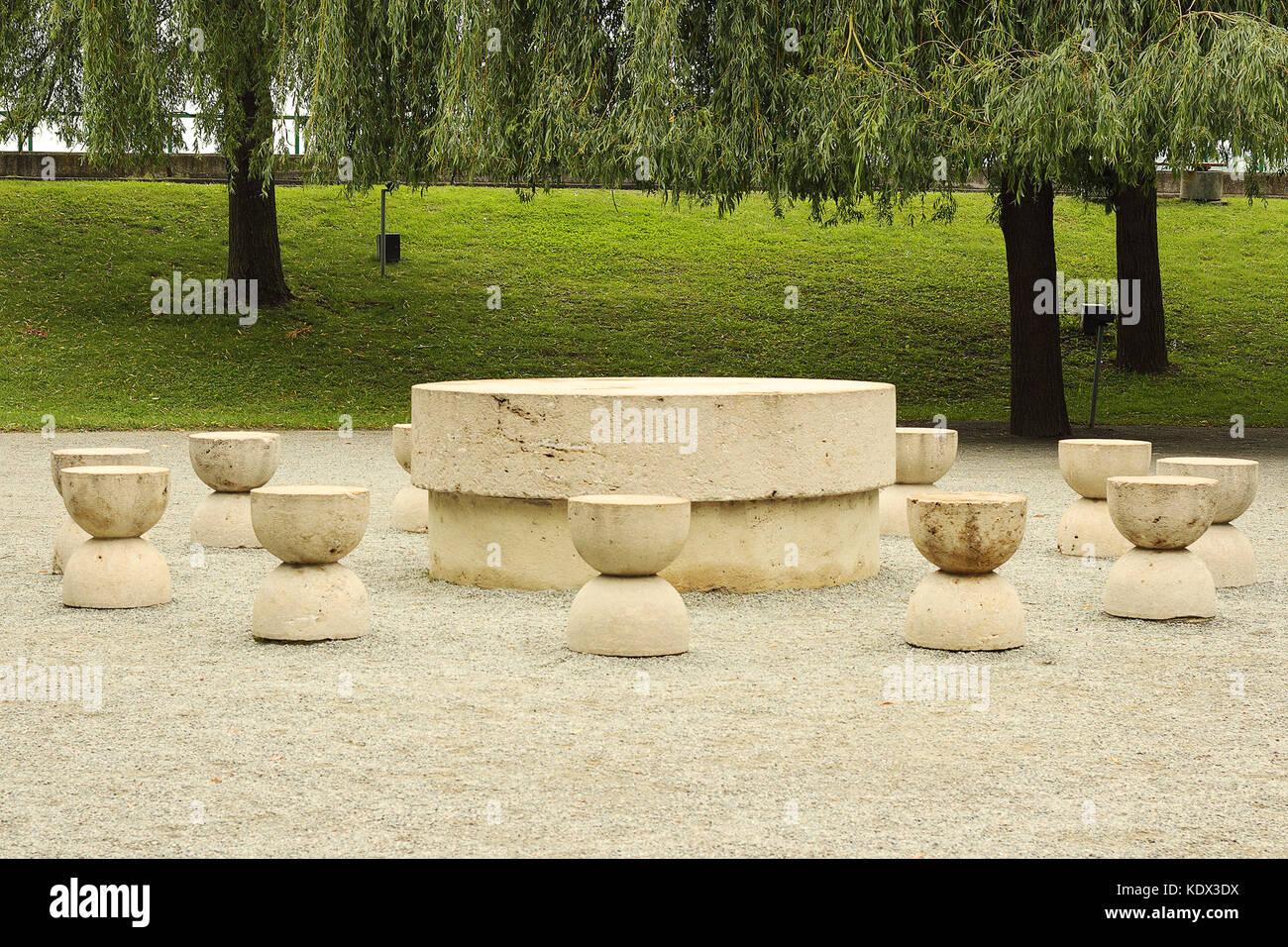 table of silence in Targu Jiu, Constantin Brancusi Stock Photo ... for Brancusi Table Of Silence  156eri