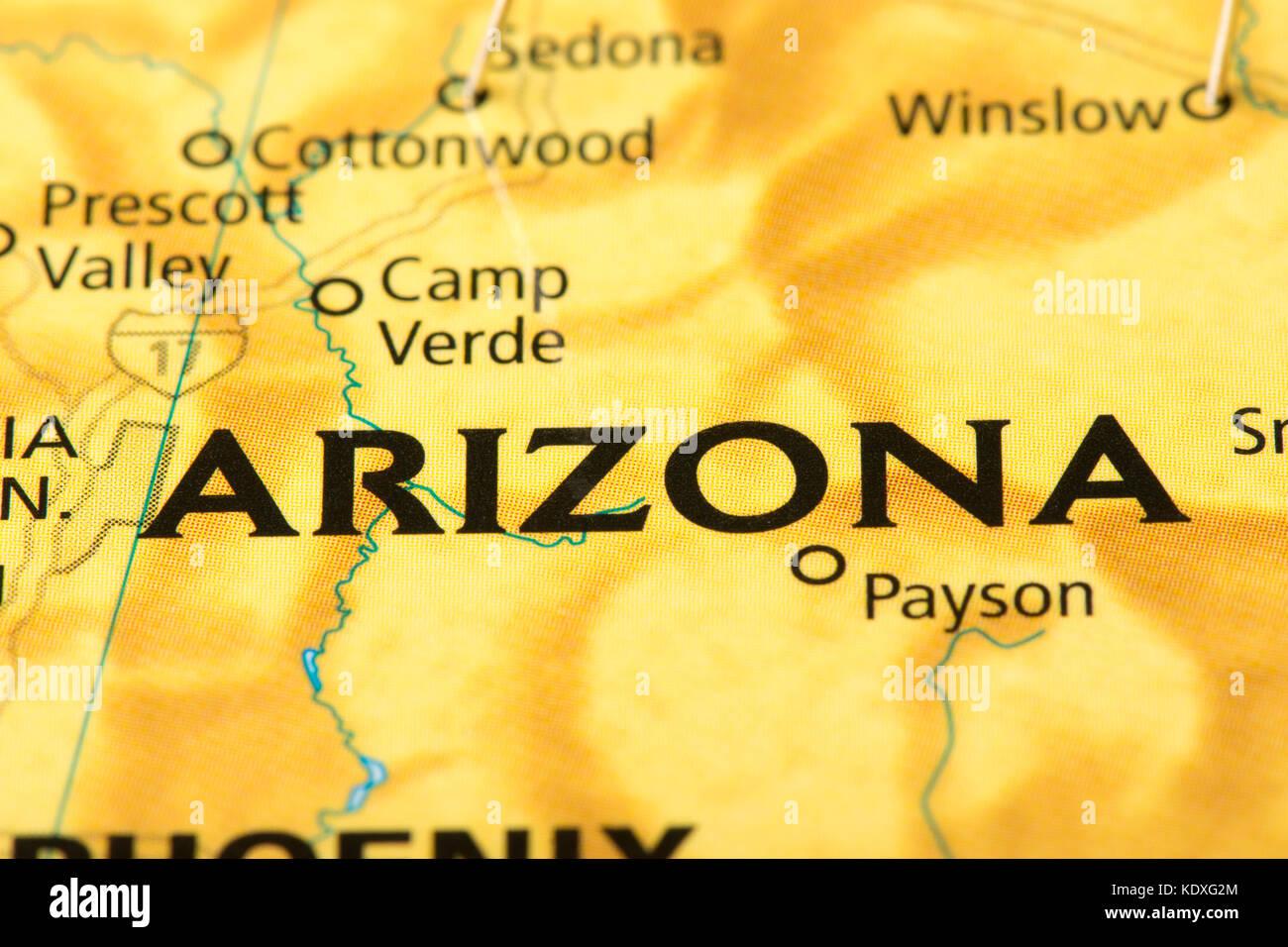 Political Map Arizona Stock Photos Political Map Arizona Stock - Arizona political map