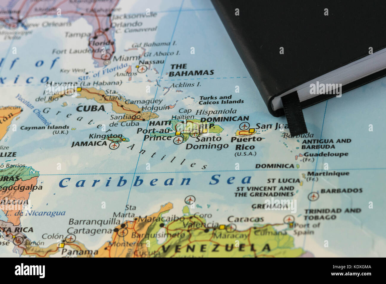 Caribbean Sea Map Stock Photos Caribbean Sea Map Stock Images - Jamaica map caribbean sea