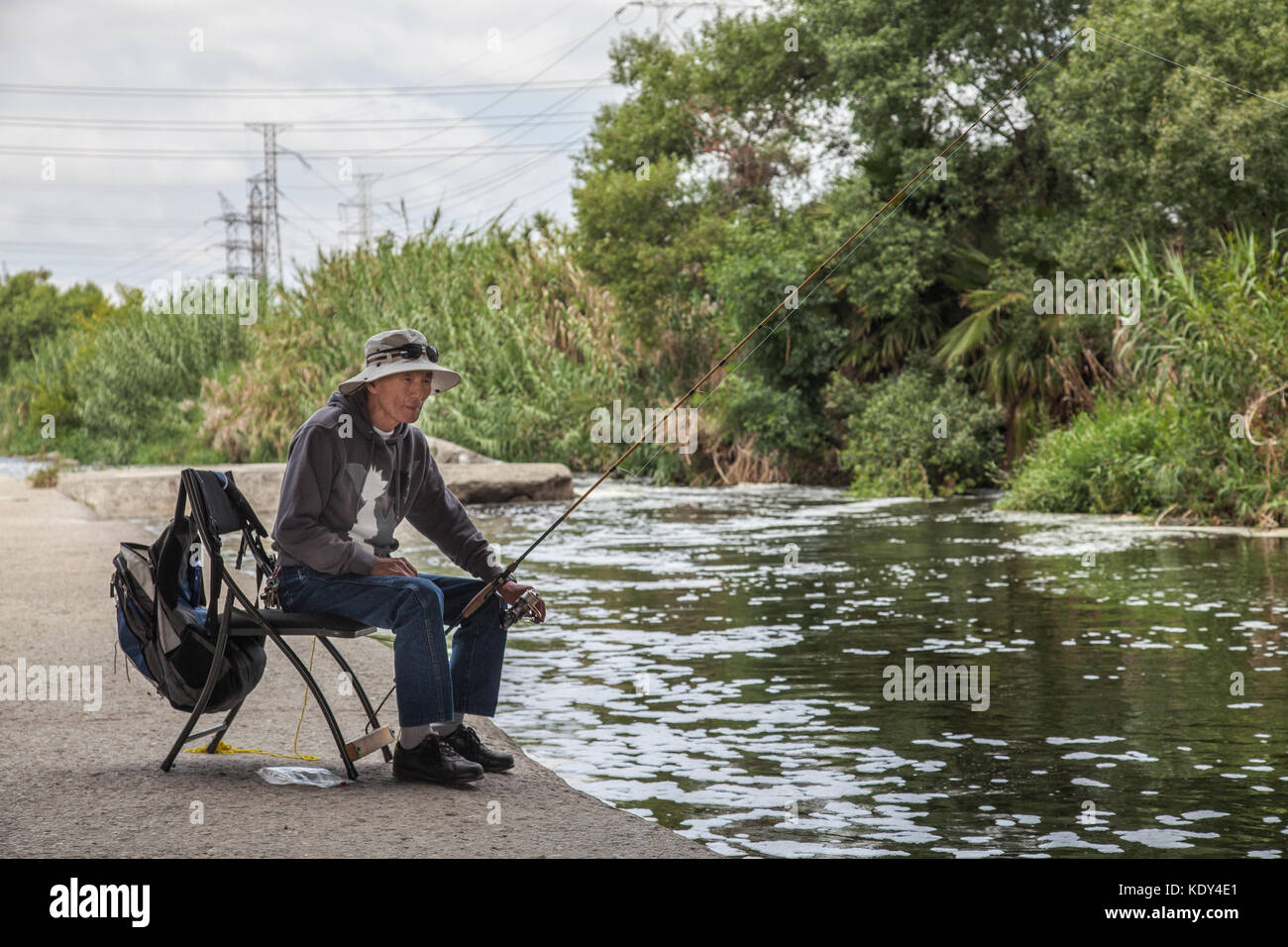 Elysian valley stock photos elysian valley stock images for Fishing los angeles