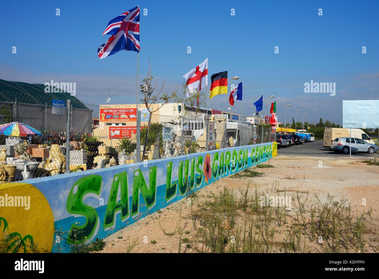 San Luis Garden Center In Torrevieja Spain European Nation Flags  # Muebles Torrevieja Spain