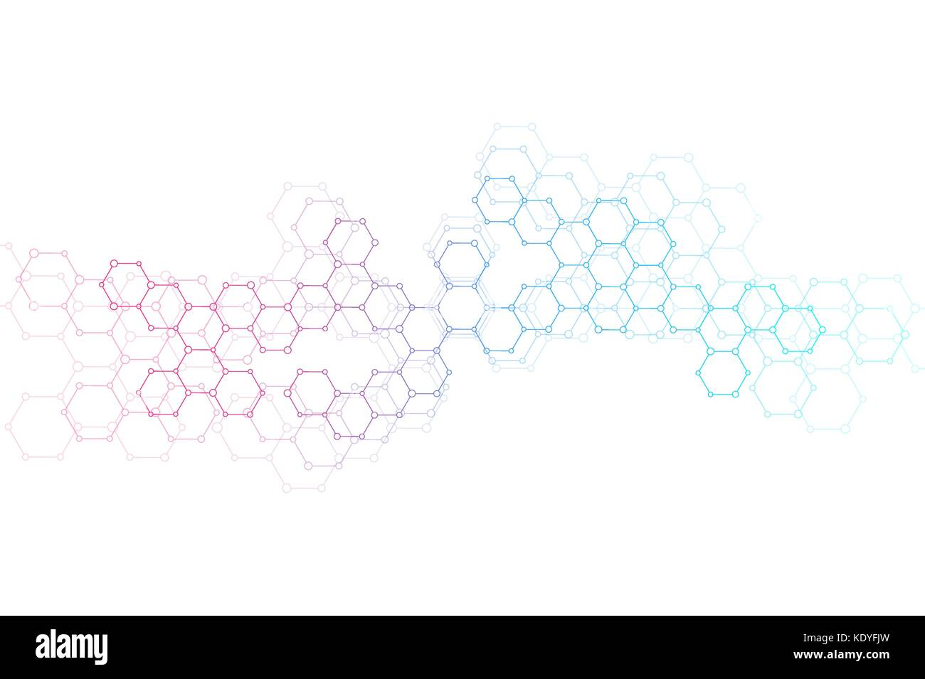abstract hexagonal molecule background genetic and chemical stock
